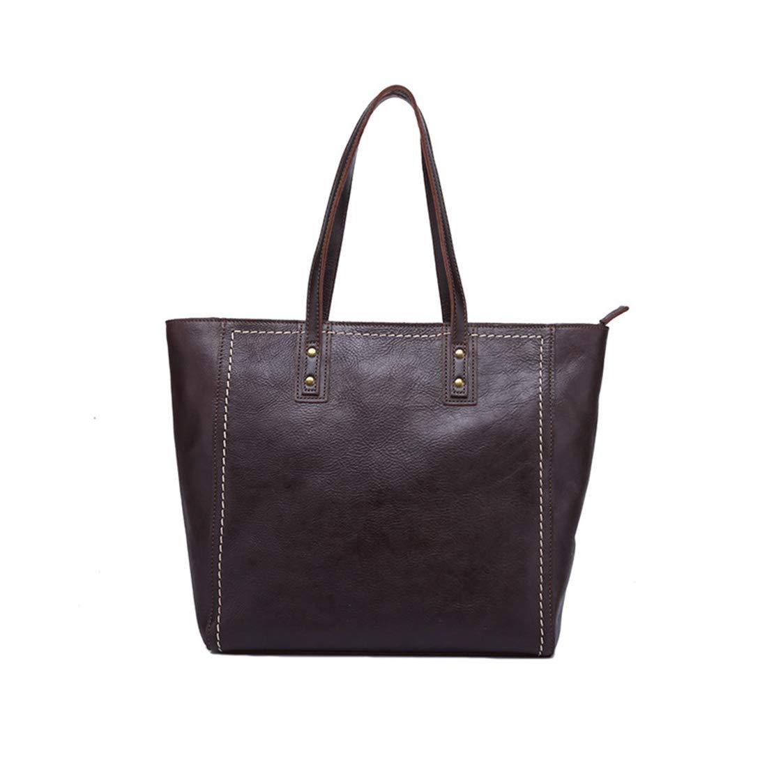 JIANZ-ryggsäck kvinnor kvinnor äkta läder axelväska tygväska handväskor handväska dam portfölj axelväska (färg: grund olja) Djup olja