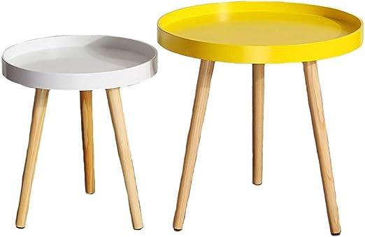 Xudongliu Small Coffee Table Small Round Table Mini Mobile Corner
