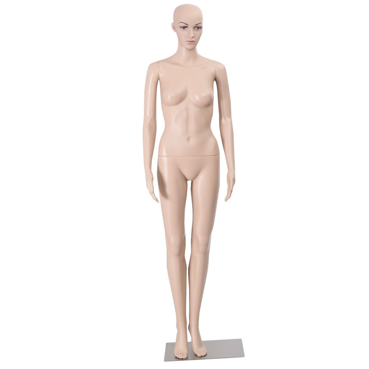 [Waller PAA] Female Mannequin Plastic Realistic Display Head Turns Dress Form w/Base