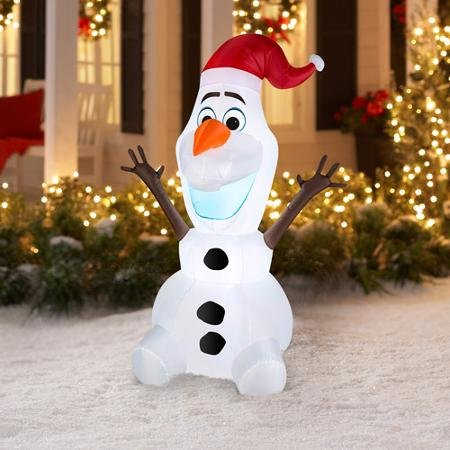 amazoncom disney frozen olaf 5 ft christmas inflatable blow up energy efficient led garden outdoor