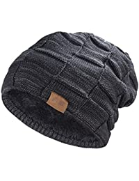 Beanie Hat for Men and Women Winter Warm Hats Knit Slouchy Thick Skull Cap f8d936ad44