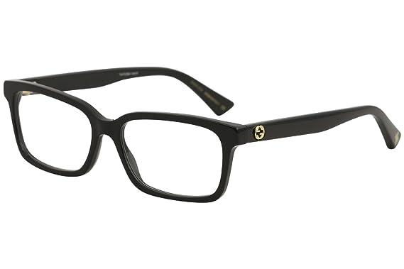 53f8999c06 Amazon.com  Eyeglasses Gucci GG 0168 O- 001 BLACK    Clothing