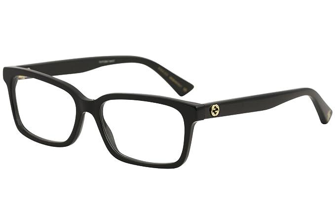 a1f365748e Eyeglasses Gucci GG 0168 O- 001 BLACK    Amazon.ca  Clothing   Accessories