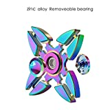 Fidget Spinner Toy, VOLADOR Zinc Alloy Quad Hand Spinner Relieve ADHD EDC Anxiety Stress Helps Focus
