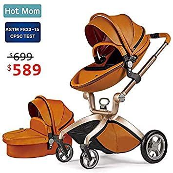 Zitstoel Voor Baby.Amazon Com Baby Stroller 2018 Hot Mom Baby Carriage With Bassinet