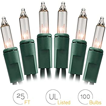 onh christmas lights 100 count clear mini string lights set indoor outdoor lighting - Where To Buy Christmas Lights Year Round