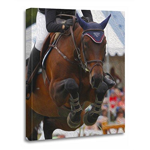 TORASS Canvas Wall Art Print Horse Show Jumping Equestrian Grand Prix Jumper Sports Artwork for Home Decor 16
