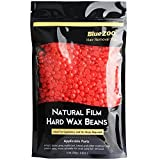 Bluezoo Strawberry Stripless Professional Depilatory Wax,Hot Film Hard Wax Beans,Ideal Depilatory Wax for All kinds of Skin Types,250g/Bag