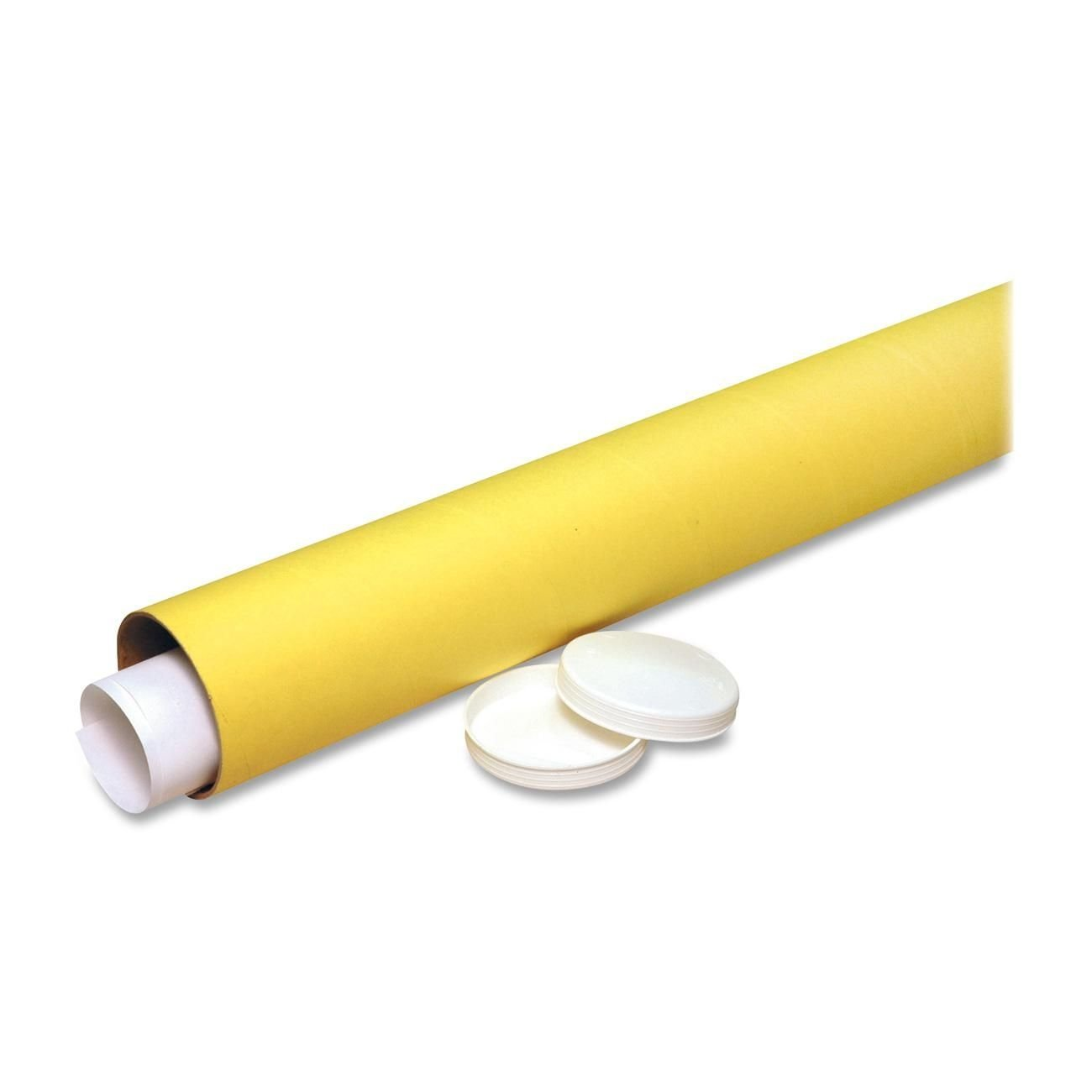 Nature Saver Economy Mailing Tubes -31 -Removable End Caps -Fiberboard -25/Carton -Yellow Kraft S.P. Richards CA NAT01511