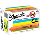 Sharpie Tank Style Highlighters, Chisel Tip, Fluorescent Orange, Box of 12