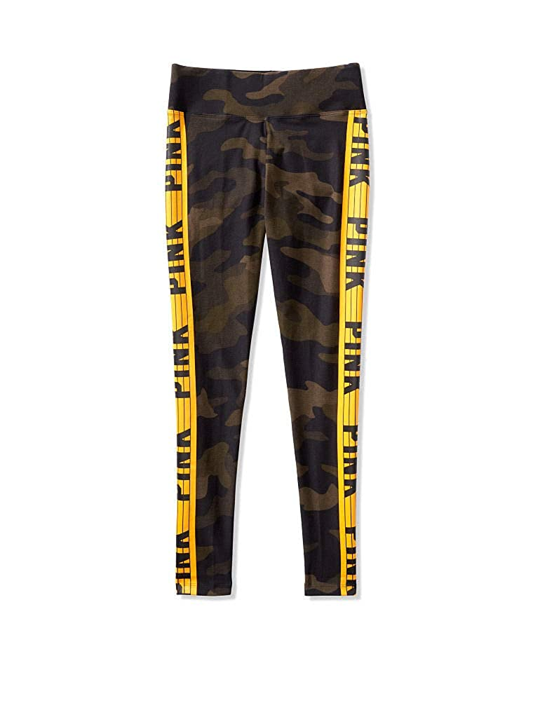 Victoria Secret Pink Camou Legging with gold Logo Taped Detailed (M and L)
