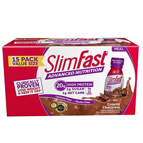 SlimFast Advanced Creamy Chocolate Ready to Drink Shakes (15 pk.)…