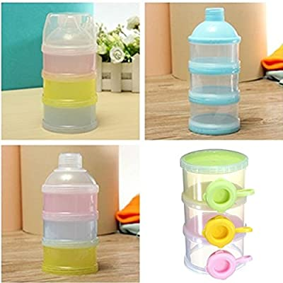 Random Color 3 Layer Baby Milk Feed Powder Dispenser Container Compartment Travel Bottle Storage Box by Thailand that we recomend individually.