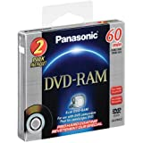 Panasonic Two-Pack of e8cm DVD-RAM Disc with Pro Hard Coating for DVD Camcorders, 2.8GB