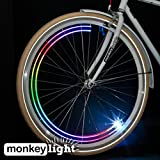 Monkey Light M204R - USB Rechargeable - 40 Lumen Ultrabright Bike Wheel Light - 4 Full Color LEDs