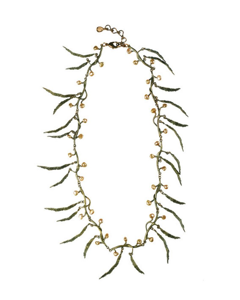 ''Seaweed'' Pearl Spray Necklace by Michael Michaud for Silver Seasons…