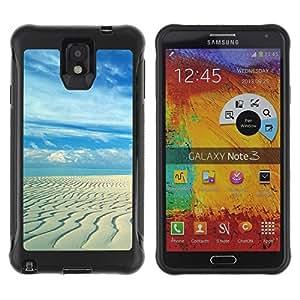 LASTONE PHONE CASE / Suave Silicona Caso Carcasa de Caucho Funda para Samsung Note 3 / Sandy beach