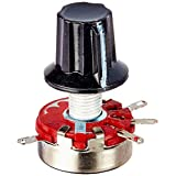 Uxcell WTH118 Single Turn Rotary Taper Carbon Potentiometer Pots with Knob, 470K Ohm, 2W