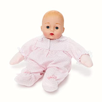 Amazon.com  Madame Alexander Baby Huggums With Pink Check Outfit ... cf1e14806