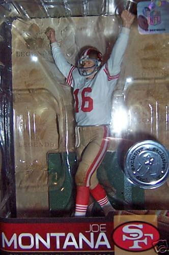 Joe Montana #16 San Francisco 49'rs Forty Niners White Jersey Variant Chase Alternate Action Figure McFarlane NFL Legends Toys R Us Exclusive