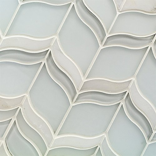 Mosaic Jet Acer Winter - Crystal Super White & Asian Statuary (Sold by:SHEET) MJACERWINTER