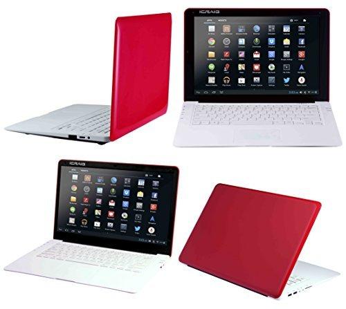 Craig Electronics 14″ Netbook 4 GB Dual Core HD Screen Powered Slimbook, Red CLP290 RD