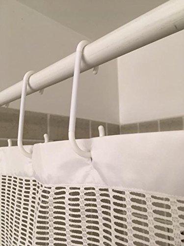 Extra Long Shower Rings Hooks 40