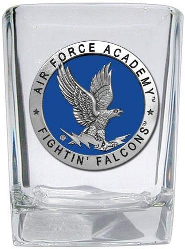 Air Force Falcons NCAA Fine Pewter Medallion Square Shot Glass Set