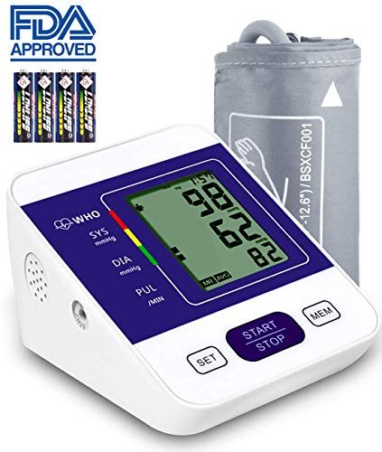 Blood Pressure Monitor Upper Arm RobotsDeal with Large LCD Display,Digital Upper Arm Automatic...
