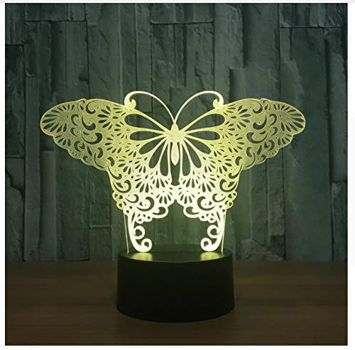 Mariposa Mariposa Mariposa Lámpara De Ilusión Visual 3D Acrílico Transparente Luz De Noche Led Hada Lampa Cambio De Color Mesa Táctil Bulbando Lambas 4bf843