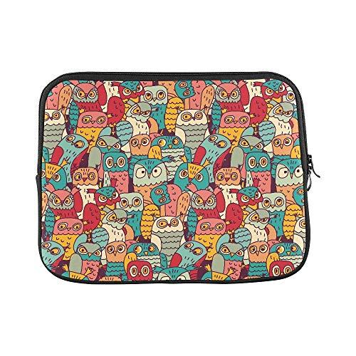 (Khom Laptop Sleeve Bag- Custom Funny Owls Birds Group Color Seamless Pattern Sleeve Soft Print Laptop Case Laptop Sleeve Bag MacBook Pro 15 inch)