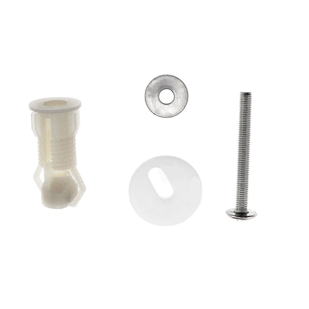 EMVANV 2PCS viti di fissaggio sedile WC Blind Hole WC foro cieco rubinetteria bianco