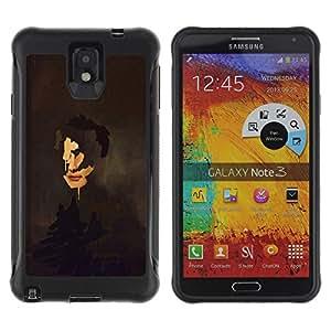 Be-Star único patrón Impacto Shock - Absorción y Anti-Arañazos Funda Carcasa Case Bumper Para SAMSUNG Galaxy Note 3 III / N9000 / N9005 ( Portrait Painting Art Face Self Reflection )
