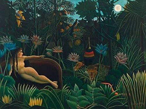 Henri Rousseau Artwork - The Dream Poster Print by Henri Rousseau (11 x 14)