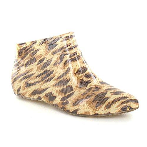 Spot on Damen Gummistiefel Pixie Style Tan Leopard