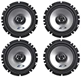 (2) Pairs Alpine SXE-1725S 6.5'  80 Watt RMS 4 Ohm 2-Way Coaxial Car Audio...
