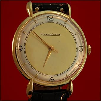 e4c5dc31fcb6 Amazon.com  Vintage Antique watch  Men s Jaeger LeCoultre 18k Gold ...