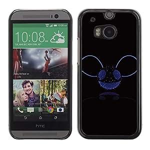 Design for Girls Plastic Cover Case FOR HTC One M8 Music Disco Ball Glitter Bling Party Smiley OBBA