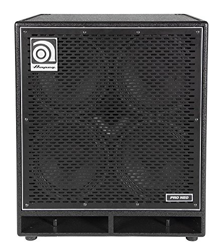Ampeg Pro Neo PN-410HLF Bass Amp Cab,  4x10-inch speaker cabinet, neodymium loaded, 850W RMS (Bass Ampeg Cabs)