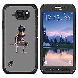Eason Shop / Premium SLIM PC / Aliminium Casa Carcasa Funda Case Bandera Cover - Sombrero de la historieta cómica Rey Oriental - For Samsung Galaxy S6 Active G890A