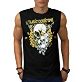 Music Addicted Cult Skull Head Men NEW XL Sleeveless T-shirt | Wellcoda offers