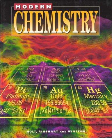Holt Modern Chemistry  Student Edition Grades 9 12 1999