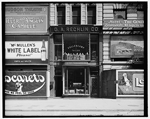 24 x 20 Art Canvas Print of c. 1900 Detroit Photographic Company 229 Fifth Avenue NY view of store by Detroit Publishing Co - 5th Map Stores Avenue