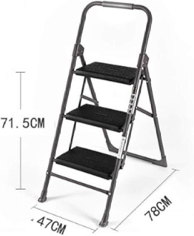 LADDER Escalera Escalera Pequeña Escalera Plegable Escalera de Acero Inoxidable Pero Yo Plegable de Múltiples Funciones Del Hogar Escalera: Amazon.es: Bricolaje y herramientas
