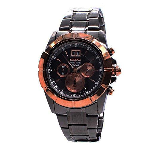 Edt Watch - Seiko Mens Chronograph LMT EDT Analog Dress Quartz Watch NWT SPC112P1