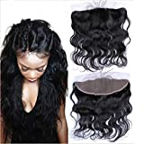 "Promotion! Remeehi 13""*4"" Body Wave Lace Frontal Closure 100% Brazilian Virgin Human Hair(8"" Natural Color)"