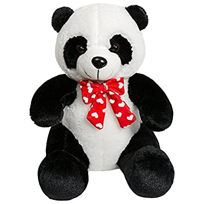 iBonny Panda Teddy Bear Stuffed Animal with Red Tie Classic Soft Plush Kids Toy 15 Inch: Toys & Games