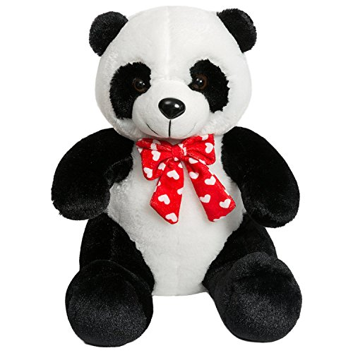 iBonny Panda Teddy Bear Stuffed Animal with Red