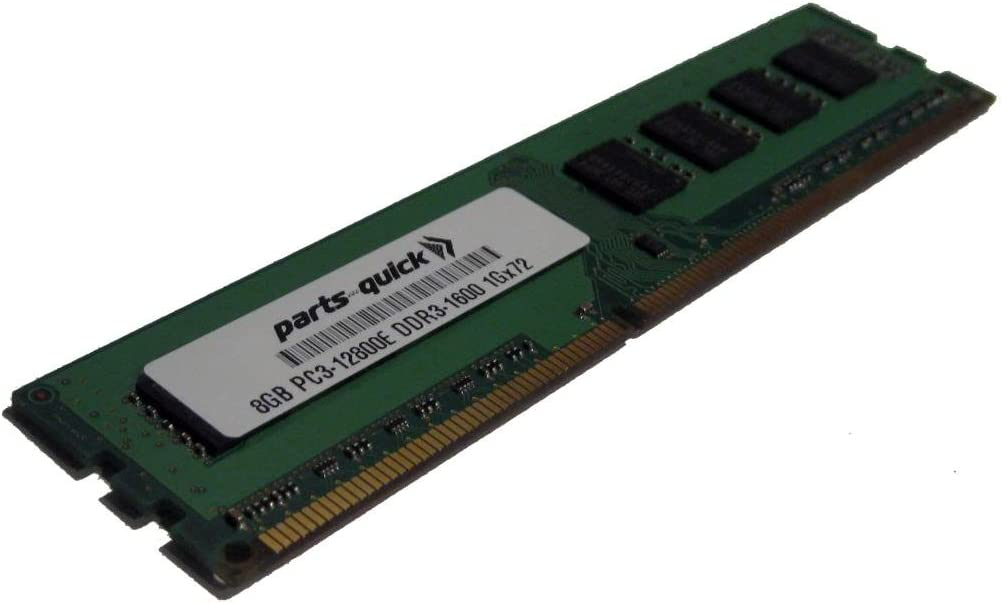 8GB Memory for Dell Precision Workstation T1600 DDR3 PC3-12800E ECC RAM Upgrade (PARTS-QUICK Brand)