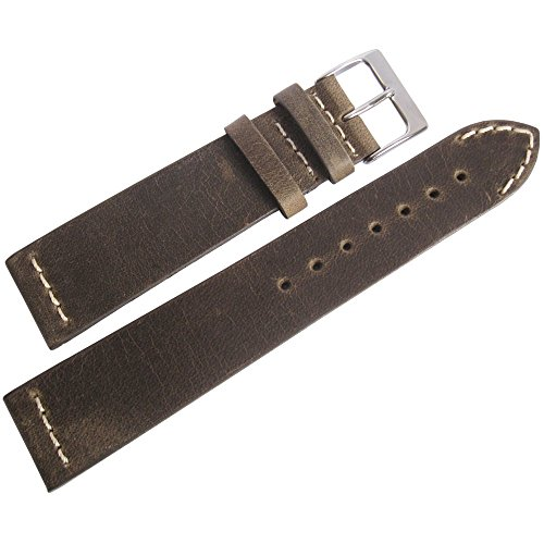 ColaReb 18mm Venezia Mud Leather Watch Strap by ColaReb